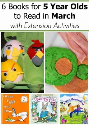 March Books and Extension Projects for 5 Year Olds