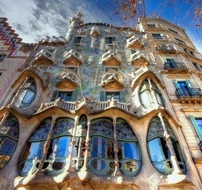 Barcelone : La Casa Battlo, oeuvre de Gaudi