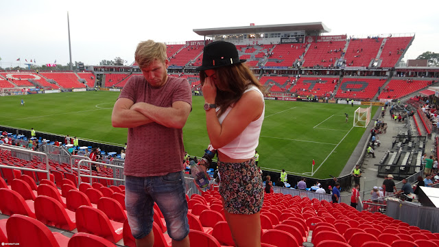 not impressed with the performance of Toronto FC in Toronto, Ontario, Canada