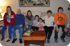 Gma, DadDad & great grands 2012