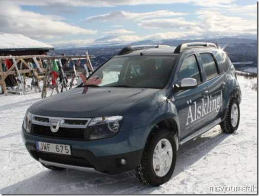 Dacia Duster in de winter 03