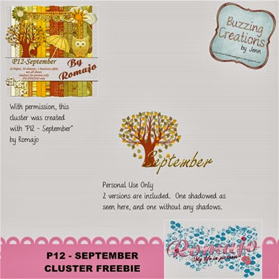 Romajo - P12 September - Cluster Freebie Preview