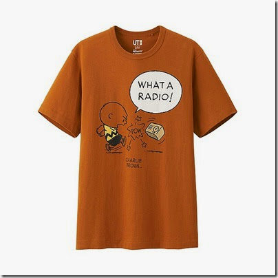 Uniqlo Peanuts Graphic Short Sleeve T Shirt Man Dark Orange
