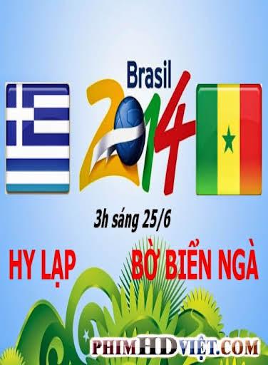Xem Lại Hy Lạp Vs Bờ Biển Ngà 3H Sáng Ngày 25-06-2014 World Cup 2014
