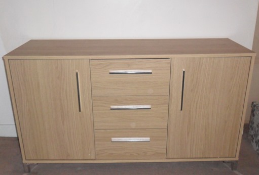 Sienna 2 Door and 3 Drawer Sideboard in Oak Effect