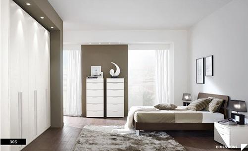 diseños de dormitorios modernos grises