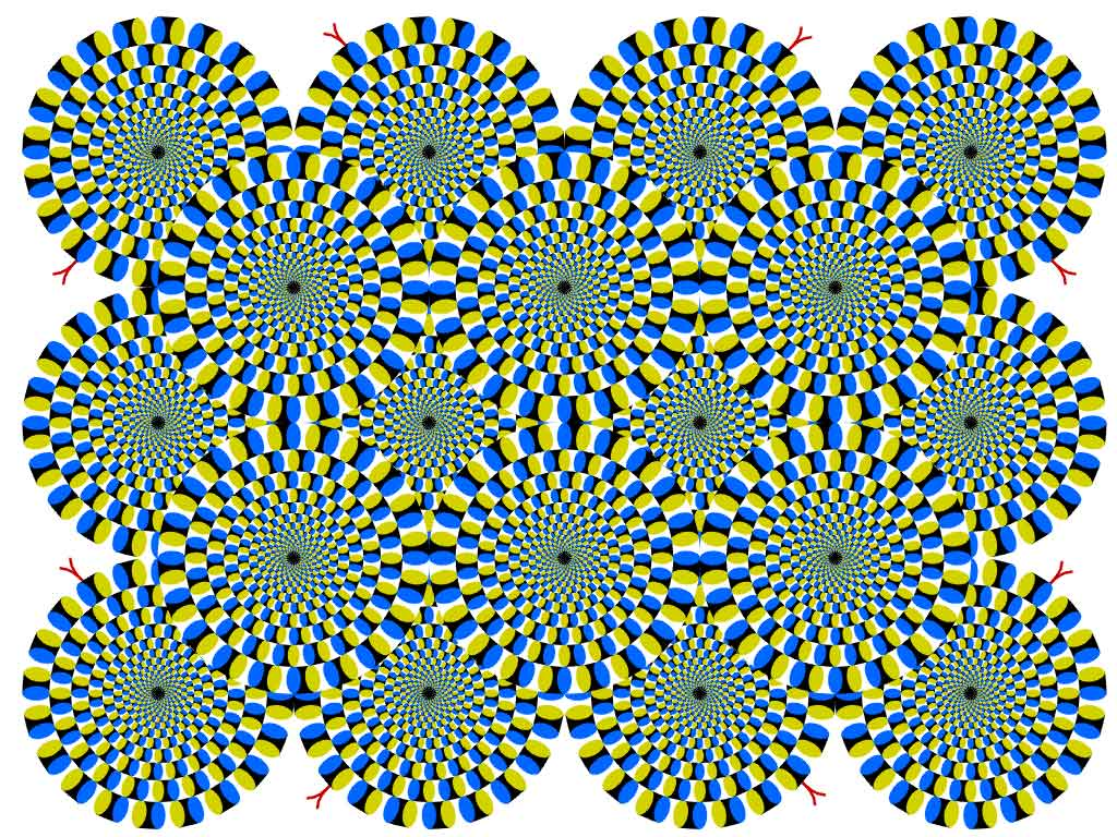 Unusual round illusion