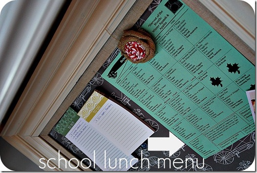 school lunch menu