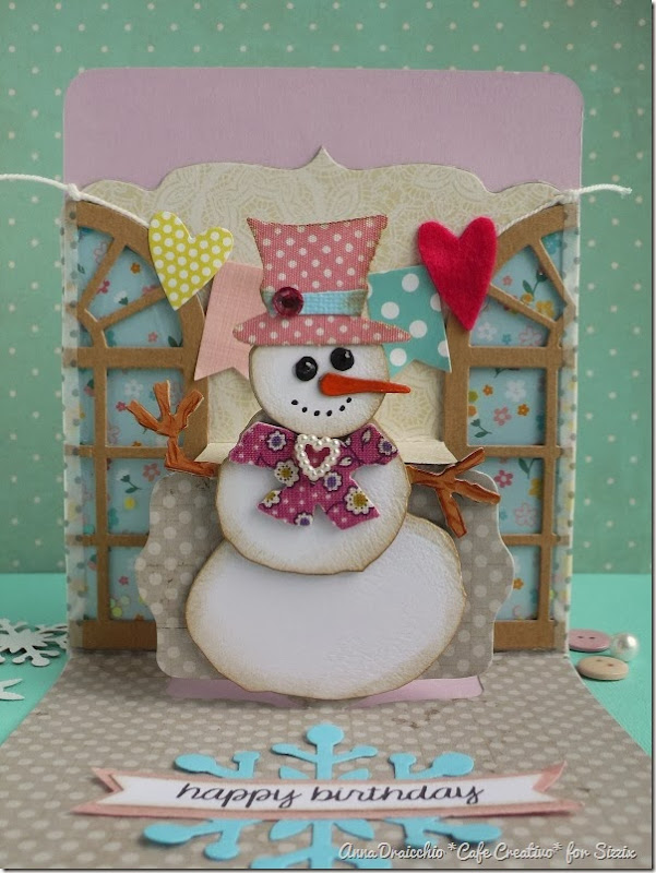 cafe creativo - Anna Drai - sizzix big shot - winter birthday card pop up (1)