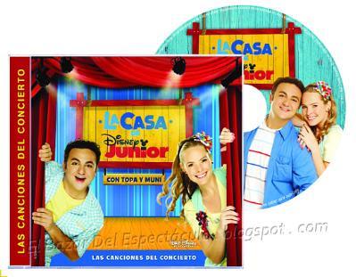 CD La casa de Disney Junior con Topa Y Muni, Lista de canciones