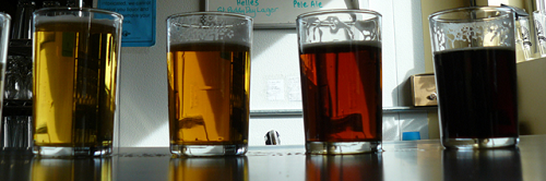 image of Chuckanut Brewery and Kitchen's many different samples