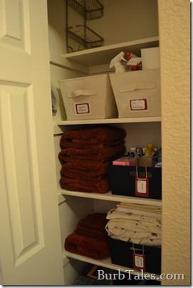 Organized hall closet