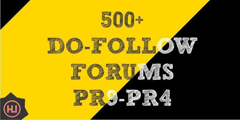 500+ forums list