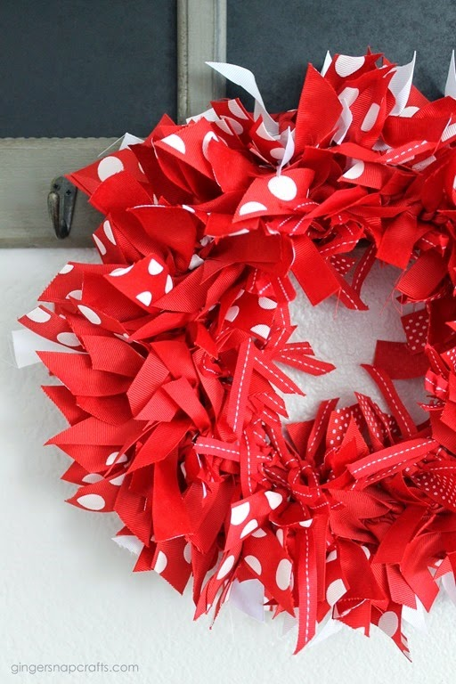 Ginger Snap Crafts Ribbon Wreath Tutorial
