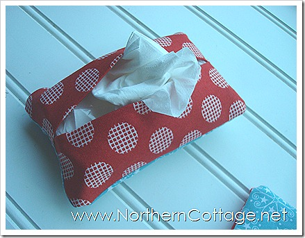 Red Tissue Tote @ NorthernCottage.net