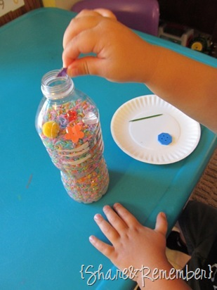 Rainbow I Spy Bottles sensory bottle