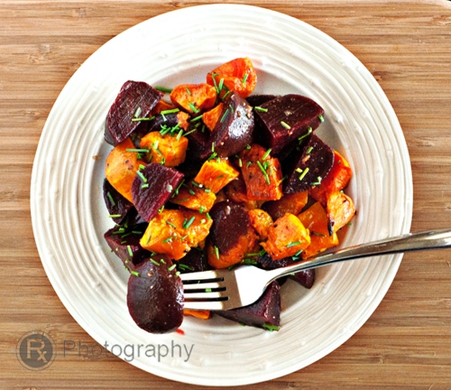 Truffled beet salad top logo