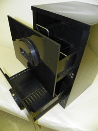 Akro-Mils filing cabinet, black