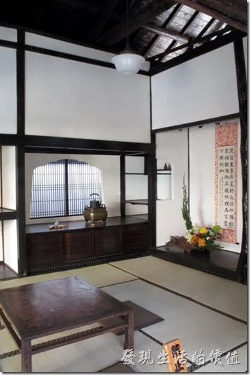 鶯料理的室內靜態展示區,展示以前鶯料理的餐廳模樣。
