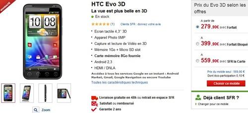 HTC Evo 3D SFR