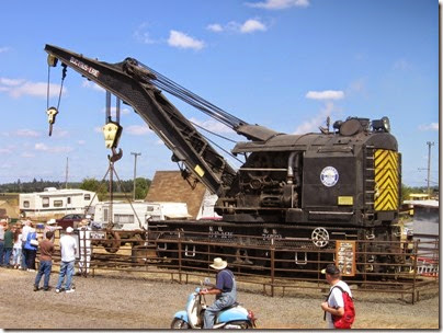 IMG_8064 1927 Bucyrus-Erie 160-Ton Steam Railway Derrick Crane SPMW #7020 at Antique Powerland in Brooks, Oregon on August 4, 2007