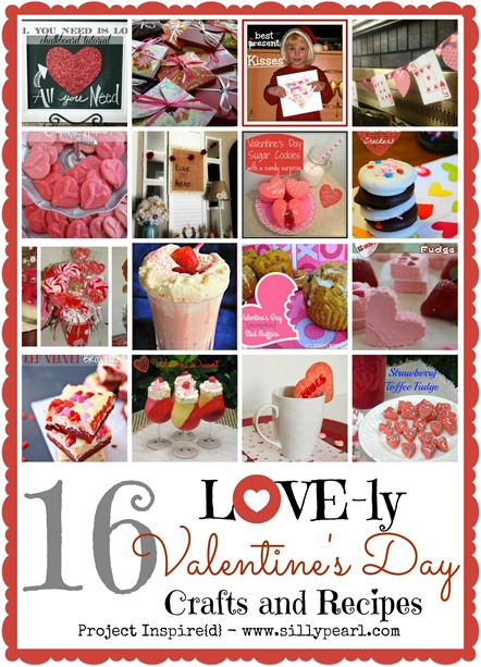 16 Lovely Valentines Day Crafts and Recipes - The Silly Pearl