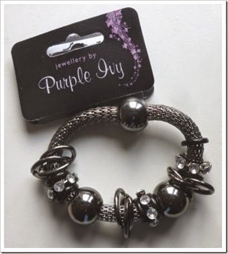 Poundland Purple Ivy Bracelet