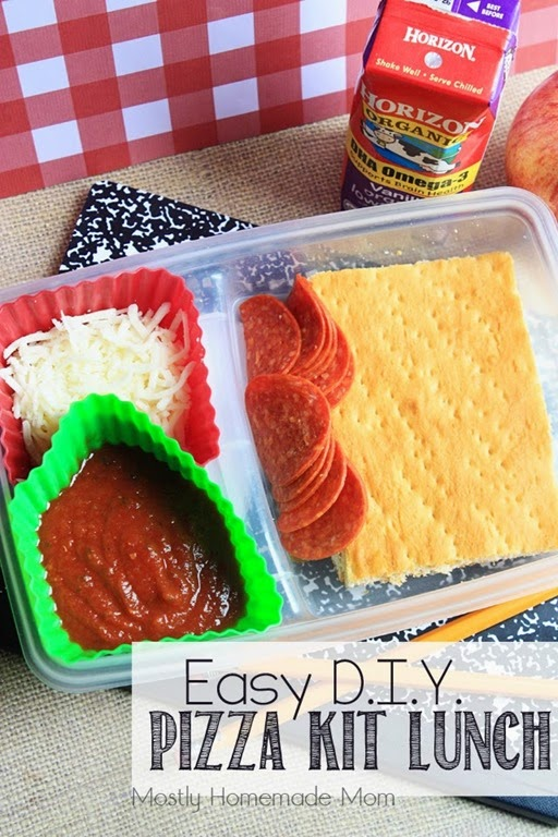 Easy DIY Pizza Kit Lunch 1