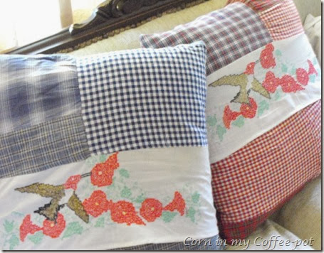 pillows for the couch- betty's pillow slips