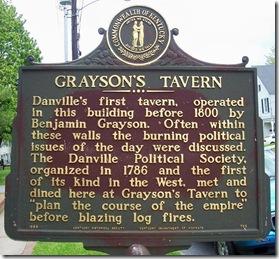 Grayson's Tavern Marker - Danville, KY in Constitution Square