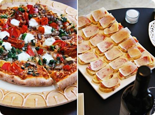 Pizza & Salami-Parmesan Crostini