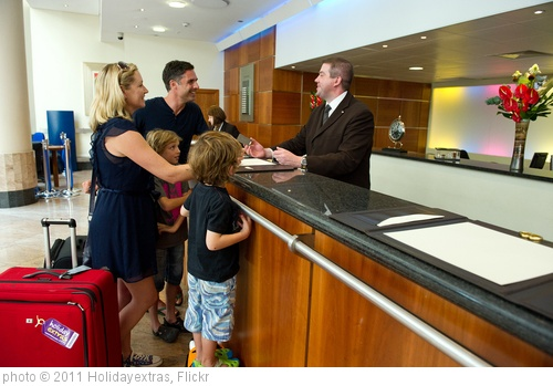 'Family at the hotel check in' photo (c) 2011, Holidayextras - license: http://creativecommons.org/licenses/by/2.0/