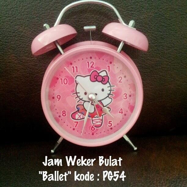 Jam Weker Hello Kitty Murah Grosir Ecer Bulat Motif Ballet