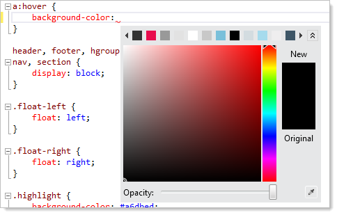The CSS colour picker