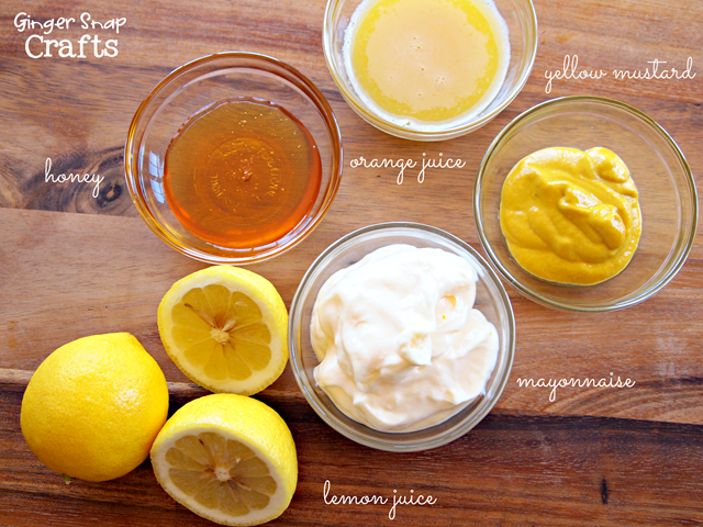 honey mustard sauce ingredients #chickenfrytime