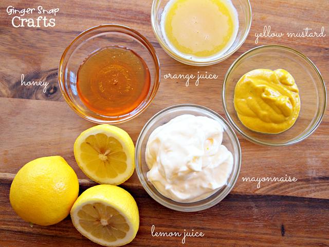 honey mustard sauce ingredients #chickenfrytime