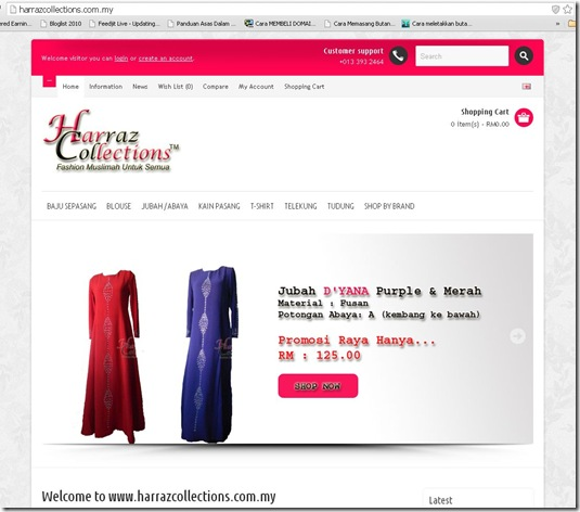 harrazcollections dot com my