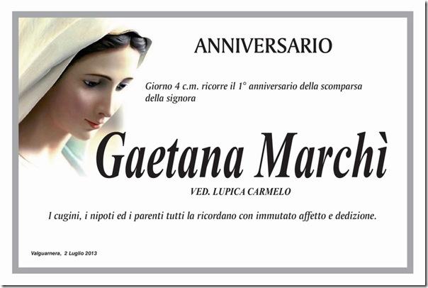 Marchi gaetana anniversario