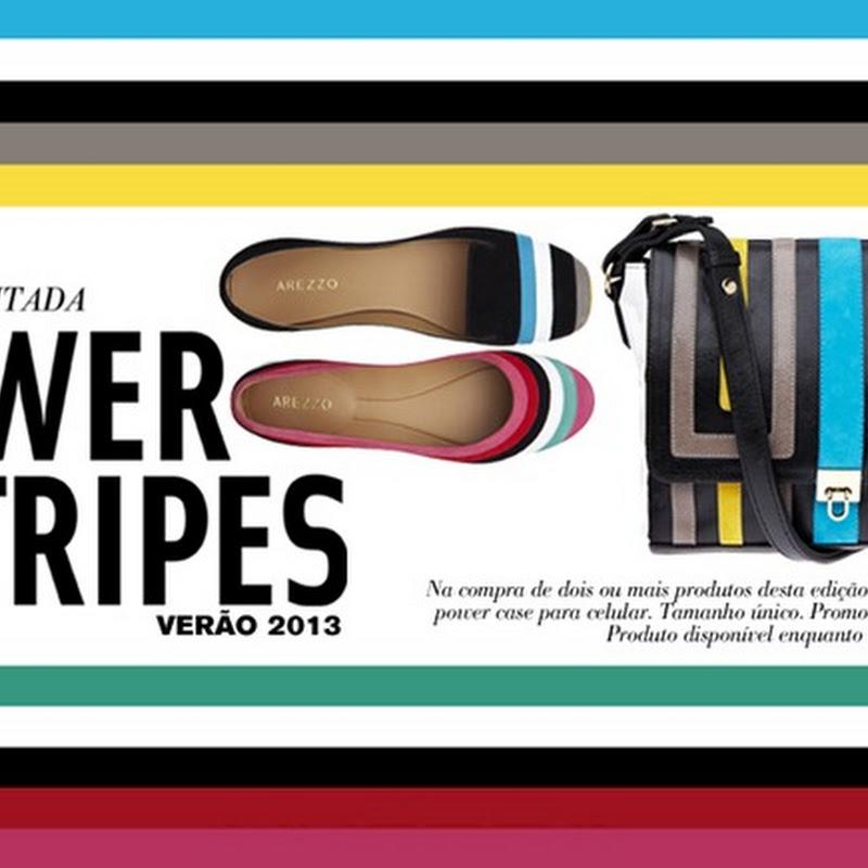 03783061d Arezzo lança edição limitada de bolsas e sapatos com listras coloridas –  Power Stripes Verão 2013.