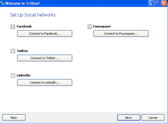 Set up Social Networks Trillian