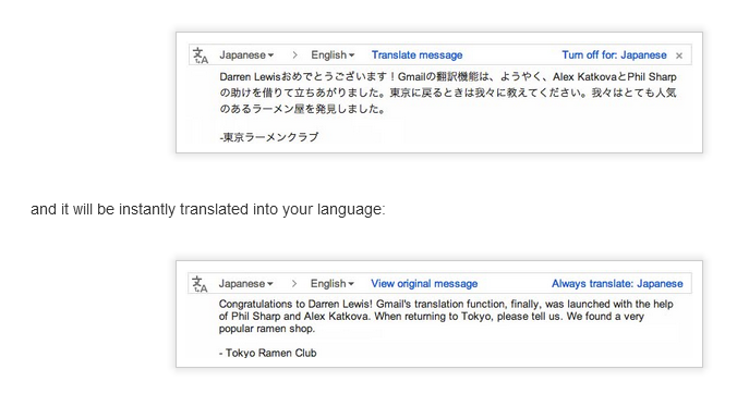 Gmail translate