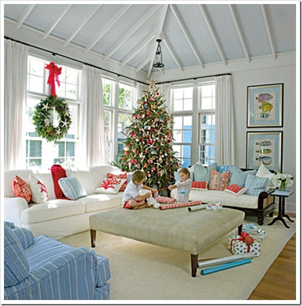 coastal living tree - Beach Themed Christmas Trees