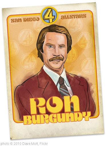 'Ron Burgundy Trading Card' photo (c) 2010, Dave Mott - license: http://creativecommons.org/licenses/by-nd/2.0/