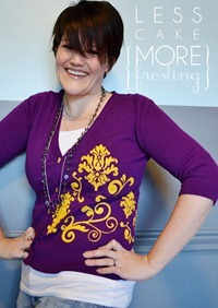 Stenciled Cardigan Tutorial by Less Cake More Frosting[10]
