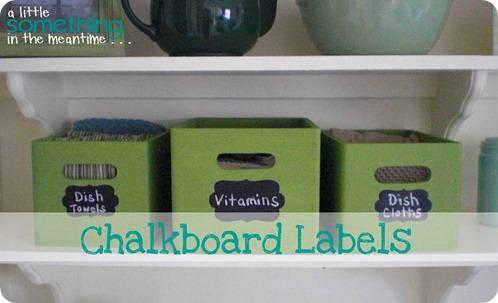 Chalkboard Labels Banner 2
