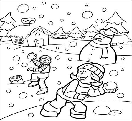jocuri de iarna-desene de colorat