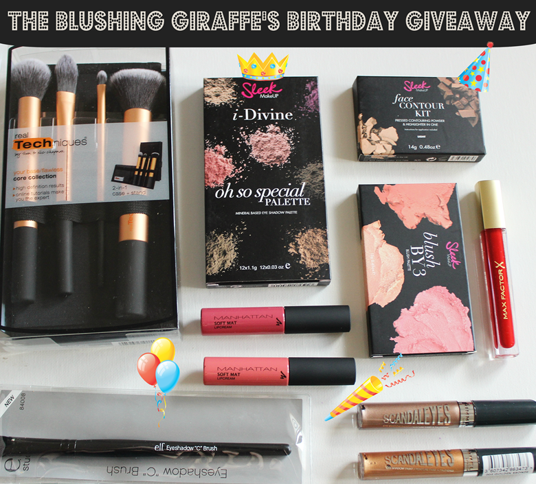 the blushing giraffe's birthday giveaway