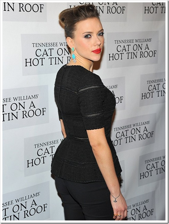 Scarlett Johansson Attended Opening Night Party at Thursday