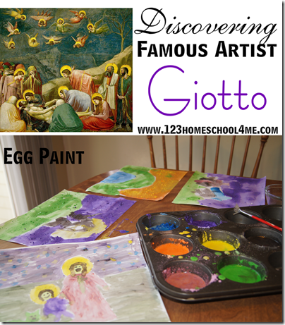 Homeschool Art Lesson - Discovering Famous Artists Giotto