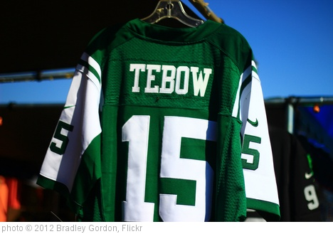 'Tim Tebow New York Jets Jersey' photo (c) 2012, Bradley Gordon - license: http://creativecommons.org/licenses/by/2.0/